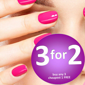 Gel nail colours 3 for 2